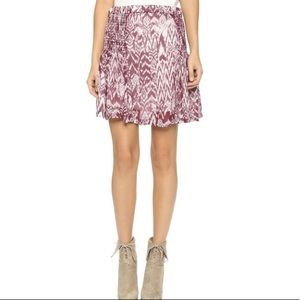 IRO Adele Purple IKAT Printed Skirred Skirt US 2